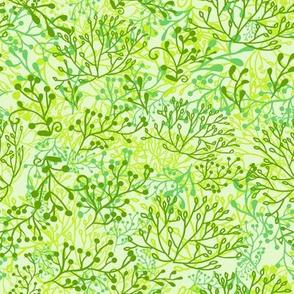 Plants background. Green