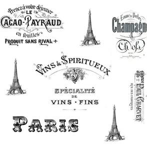 Paris Labels Collage