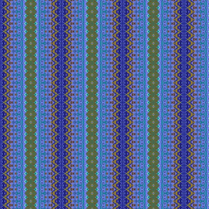 Patched Stripes Blue