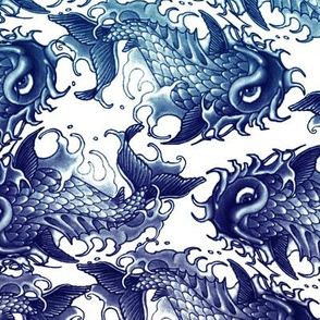 Blue Wave Koi