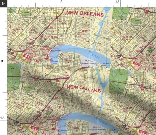 picture about Printable Maps of New Orleans known as Cloth via the Backyard fresh new-orleans-map