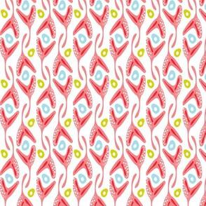 Rockweed - Abstract Seaweed Geometric Pink