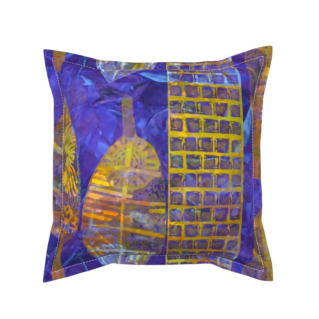 Serama Throw Pillow featuring Italian Village Charcoal & White by dorothyfaganartist