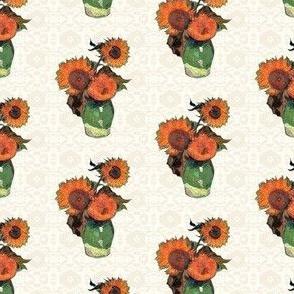 Van Gogh's Sunflowers on Cream | Southwest Style