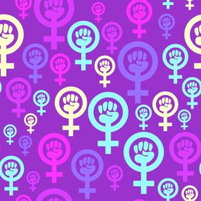 Feminist symbol in purple