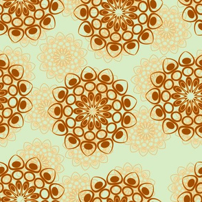 brown and beige flowers pale version