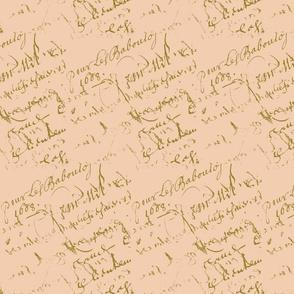 French script peach II