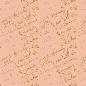 French Script Peachy Keen
