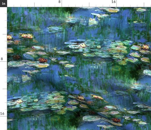 Fabric By The Yard Claude Monet Water Lilies 1916