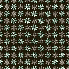 Green and brown mosaic flowers