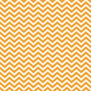 Cream & Orange Chevon