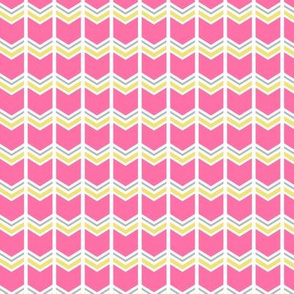 pink & lime chevron arrows