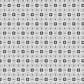 Small scale black & white offset geometric tiles