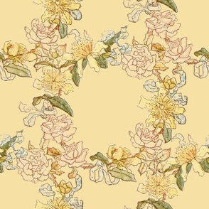Kate Greenaway Floral Circles ~ Language of the Flowers