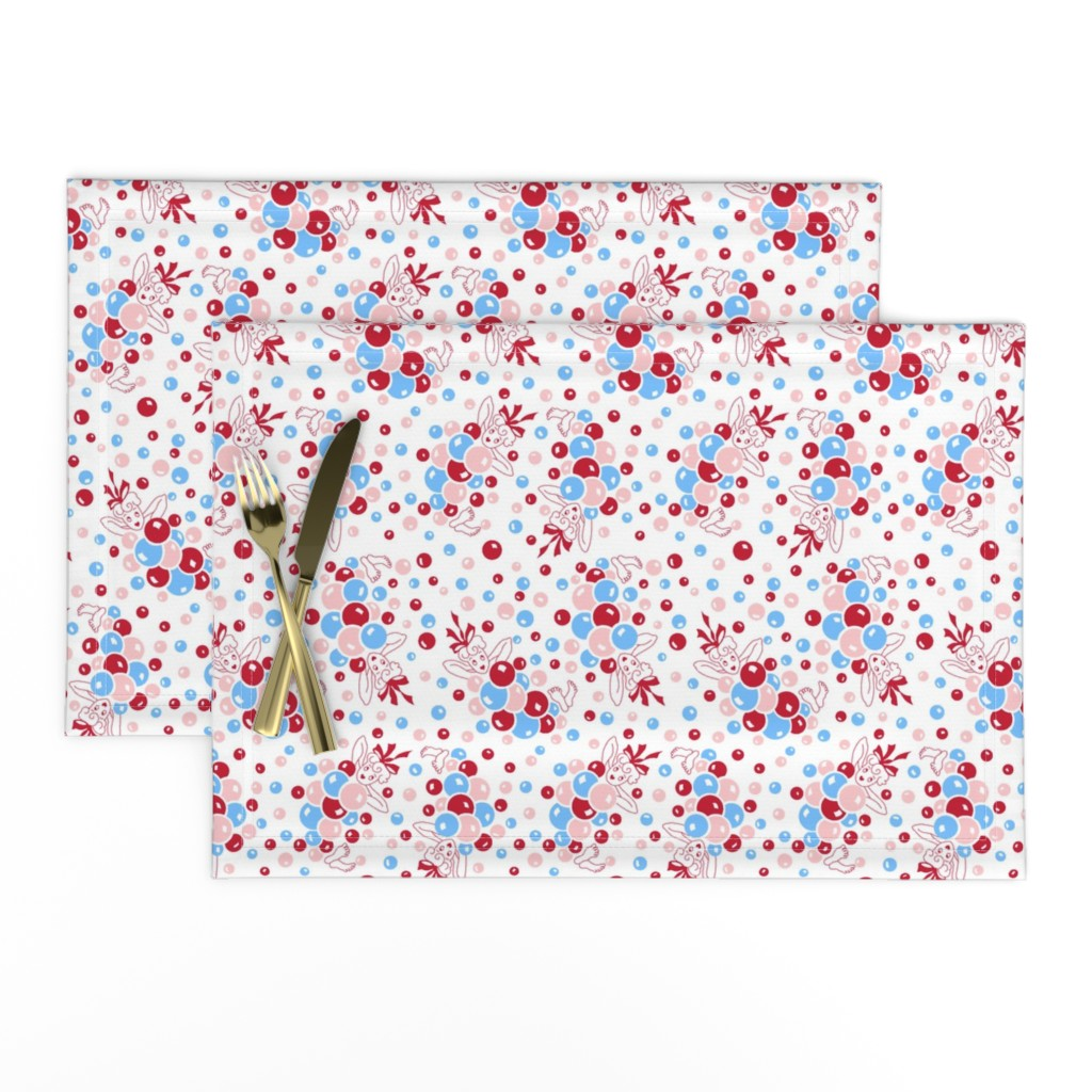 Lamona Cloth Placemats featuring Bathtime Bubbles by tuppencehapenny