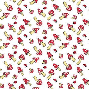 Toadstools and Ladybugs
