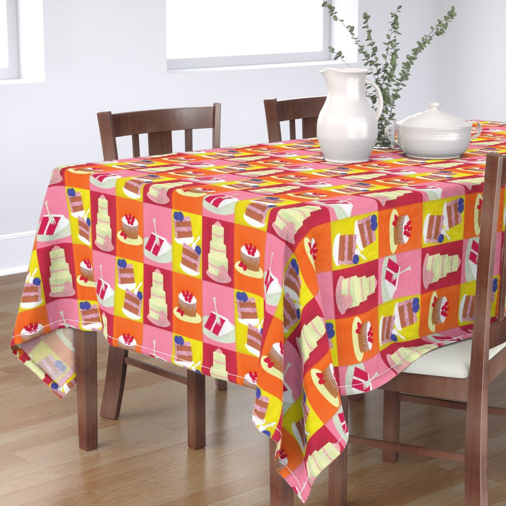 Bantam Rectangular Tablecloth featuring Hey! Isn't This Contest Making You Hungry? by owlandchickadee