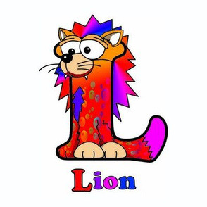 L is for Tropical Lion 8x8
