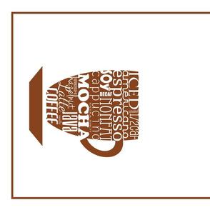 Coffee Typography Tea Towel