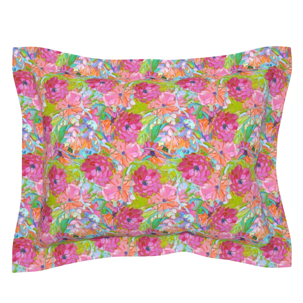 Sebright Pillow Sham featuring Wildflower Jewels Small by dorothyfaganartist