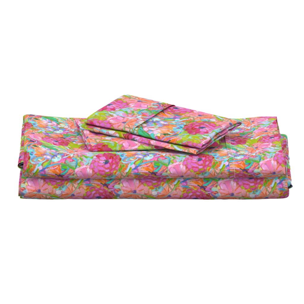 Langshan Full Bed Set featuring Wildflower Jewels Small by dorothyfaganartist