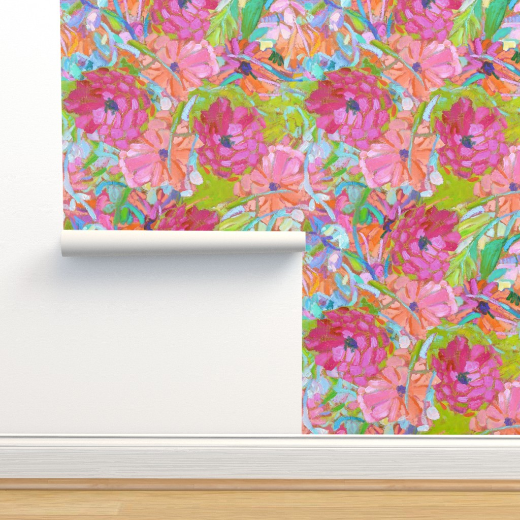 Isobar Durable Wallpaper featuring Wildflower Jewels Small by dorothyfaganartist