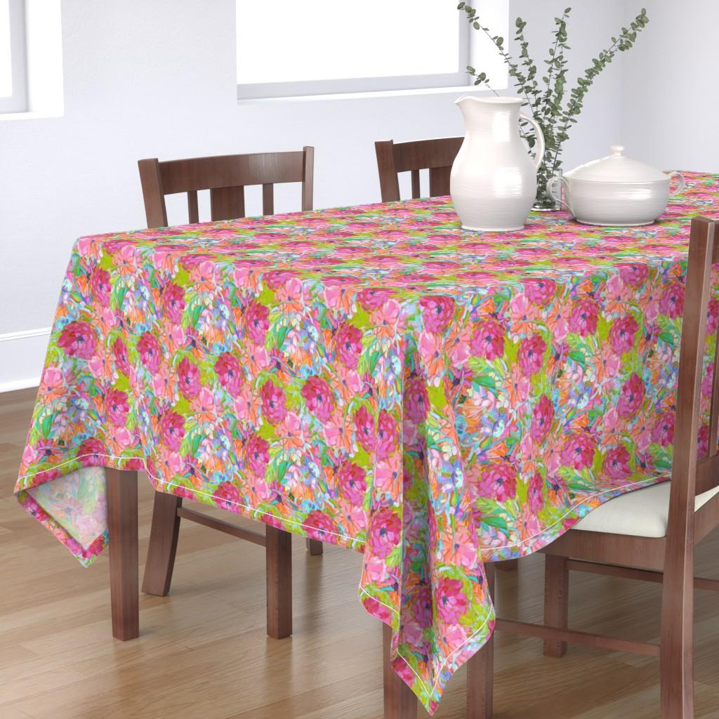 Bantam Rectangular Tablecloth featuring Wildflower Jewels Small by dorothyfaganartist