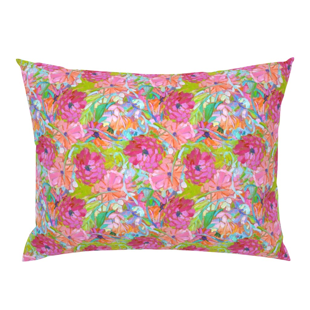 Campine Pillow Sham featuring Wildflower Jewels Small by dorothyfaganartist