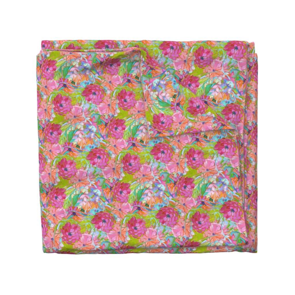 Wyandotte Duvet Cover featuring Wildflower Jewels Small by dorothyfaganartist