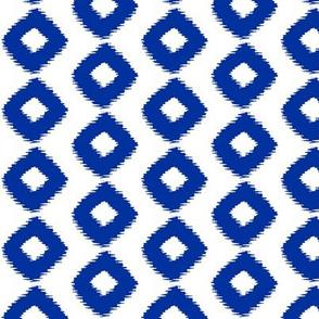 Ikat Square Cobalt