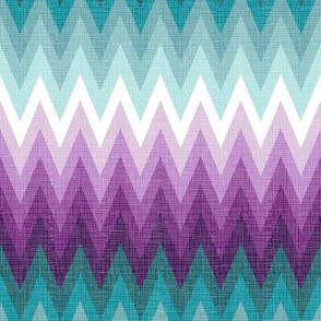 Ombre zig zags plum + teal