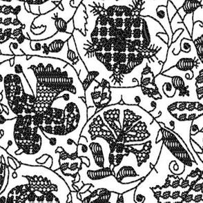 Embroidered Elizabethan Blackwork