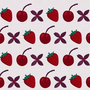 Cherries, Strawberries and flowers!