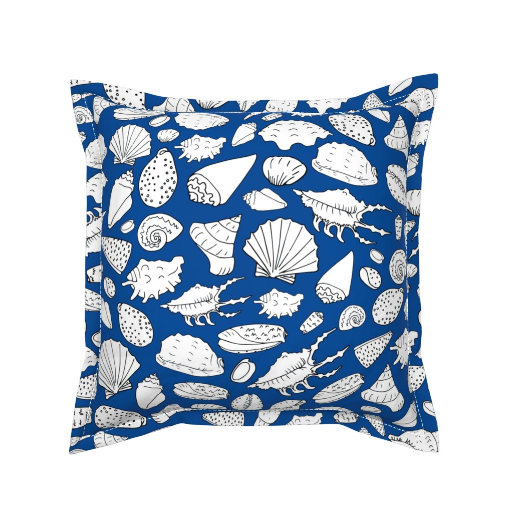 Serama Throw Pillow featuring scattered shells by karinka