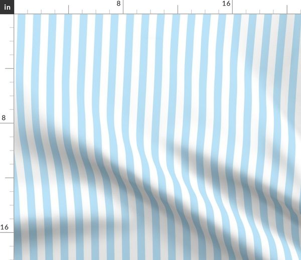 Light Blue And White 1 2 Inch Stripe Spoonflower
