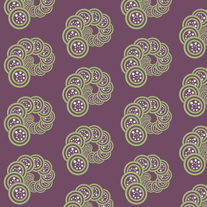 spiral_geo- purple, green, white
