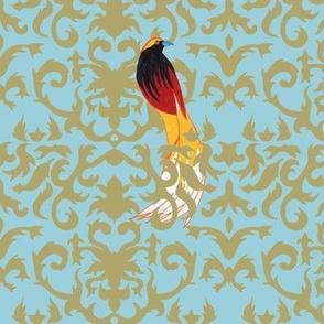 Birds of Paradise Damask
