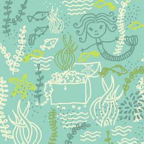 cute mermaids pattern