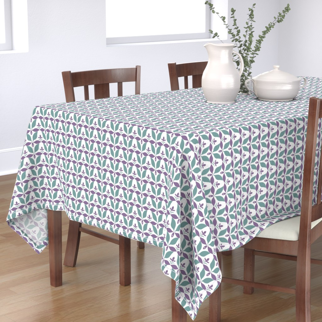 Bantam Rectangular Tablecloth featuring dusty_floraljpg by vo_aka_virginiao