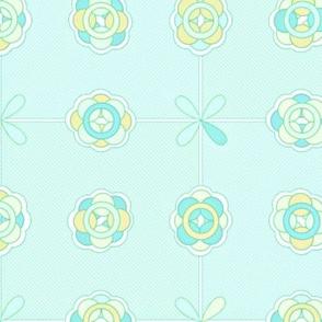 ©2011 molecular tiles- big blue and yellow