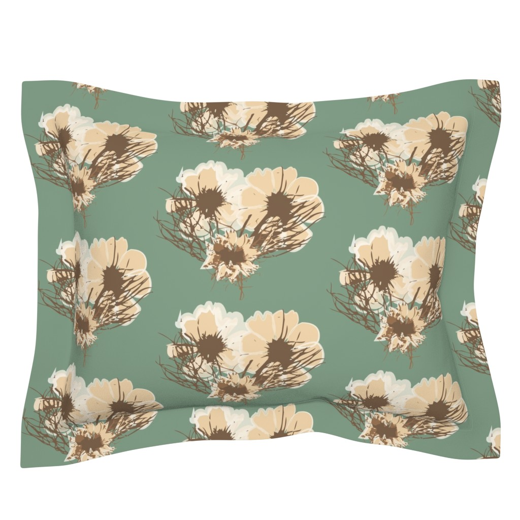 Sebright Pillow Sham featuring Dried Floral by samndrsn