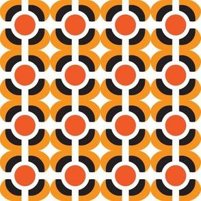 mod burnt orange dots