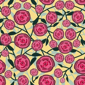 Abstract Rose Mid Century Design