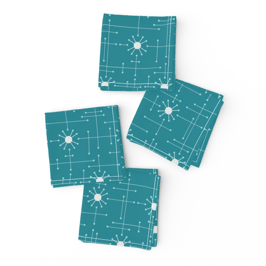 Frizzle Cocktail Napkins featuring Mod_Teal by bad_wolf_clothier