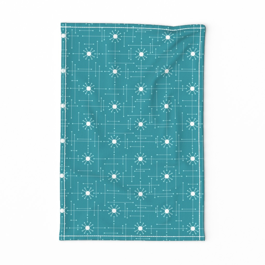 Special Edition Spoonflower Tea Towel featuring Mod_Teal by bad_wolf_clothier