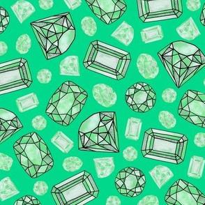 gem stones: emeralds