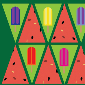 Popsicle and Watermelon Bunting