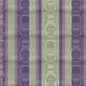 Holy Smoke Amethyst & Sage Striped Moire