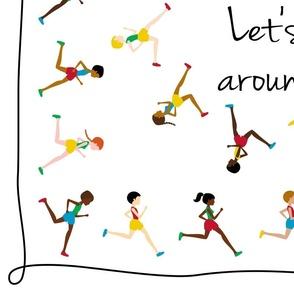 Let's run around the world (sqare scarf)