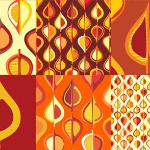 Ever-autumn cushion panels